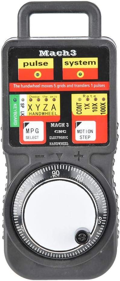 Pupilash Electronic Handwheel CNC MACH3 USB Industrial Electronic Handwheel 4Axis Manual Control Pulse Generator