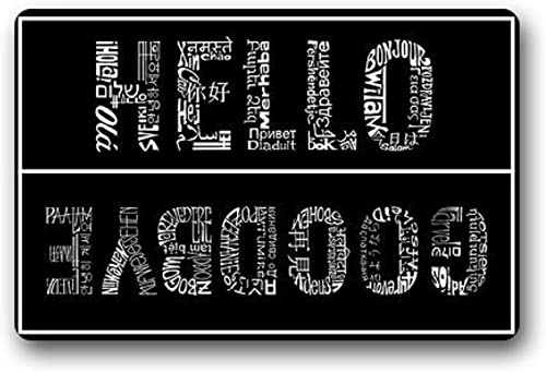 Crystal Emotion Future Origin Hello and Goodbye Welcome Mats Doormat,23.6×15.7inch