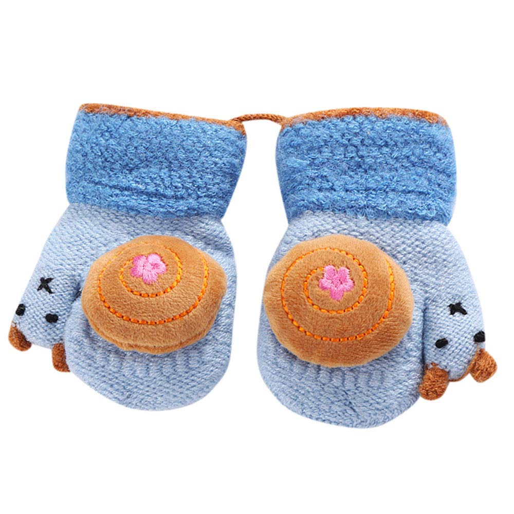 Toddler Baby Girls Boys Thicken Rope Full Finger Warm Knitted Mittens Gloves TM Outtop