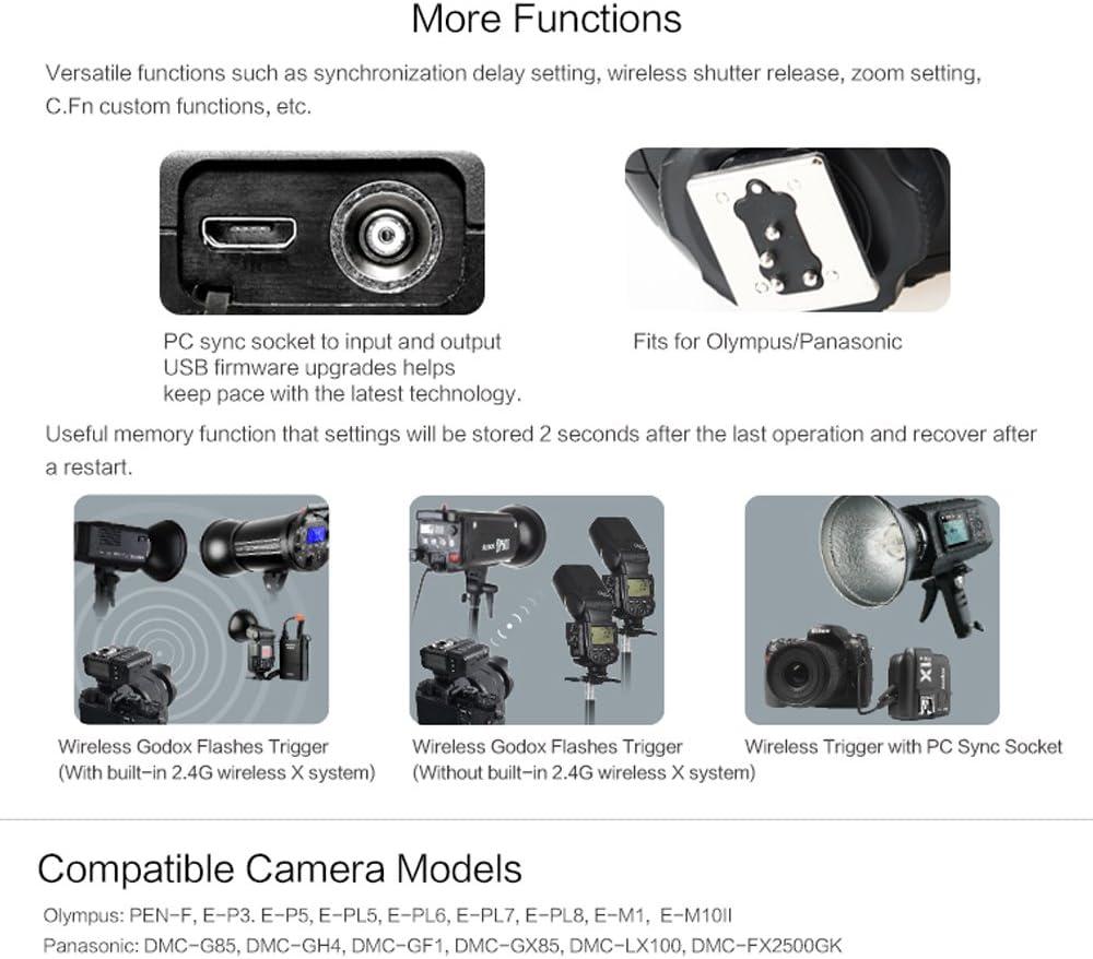 Godox X1T-O TTL 2.4G 1//8000s HSS Wireless Flash Trigger for Olympus Panasonic Cameras
