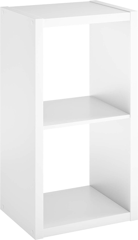 ClosetMaid 4533 Decorative Open Back 2-Cube Storage Organizer, White