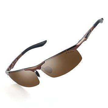 Gris Jack polarizadas Deportes Gafas de sol Marco de aleación de aluminio ultra light de la
