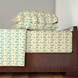 Roostery Farm 3pc Sheet Set Alpacas by Pond Ripple Twin Sheet Set made with