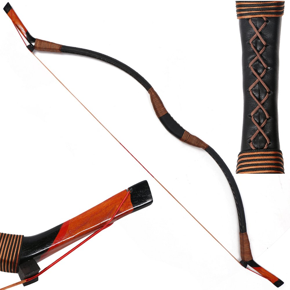I-Sport Traditional Recurve Bow Hunting Handmade Longbow Archery Mongolian Horsebow 50lbs by ISPORT