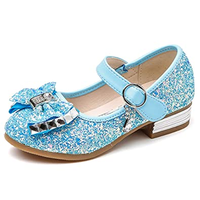 c5b7a1ca1efccb Amazon.com | YOcheerful Kids Girls Wedding Party Shoes Glitter Bridesmaids  Low Heels Princess Dress Shoes Glitter Sequins Low Heel Mary Jane Princess  Shoes ...