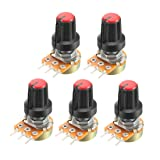 uxcell 5Pcs 100K Ohm Variable Resistors Single Turn