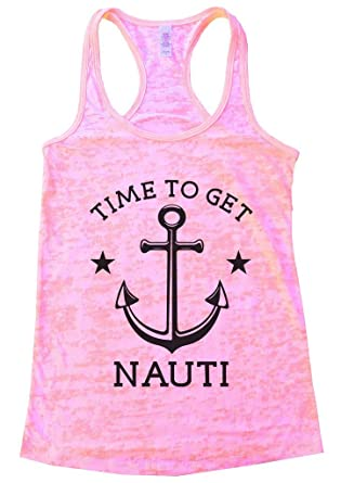 "d6a4e33b15e8 Womens Naughty Summer Lake Tank Top ""Time To Get Nauti - Anchor"" - Funny  Threadz"