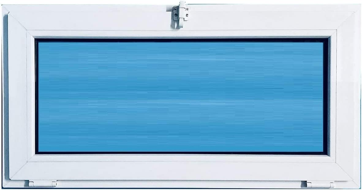 ECO-BLU V09T Ventana PVC 1000x500 Abatible Golpete Climalit, Blanco, 1000x500 mm