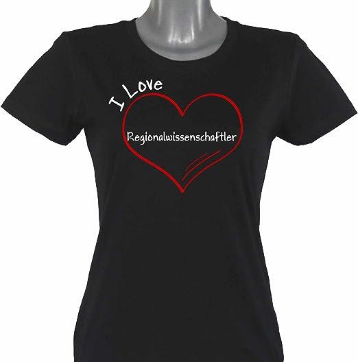 Camiseta de diseño científico para mujer I Love Regional tallas de la S a 2XL: Amazon.es: Deportes y aire libre