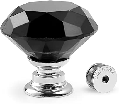 Diamond Crystal Glass Door Handle Pull Drawer Cupboard Cabinet Furniture Knob 6