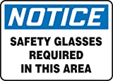 """Accuform """"Notice Safety Glasses Required In This"""