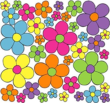 Amazon Com Daisy Pop Flower Wall Stickers Decals Graphics In Hot