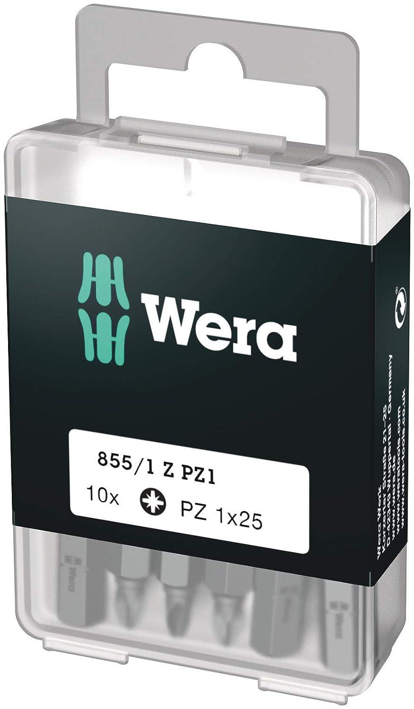 Wera 05072403001 Puntas 1 x 25 mm Set de 10 Piezas