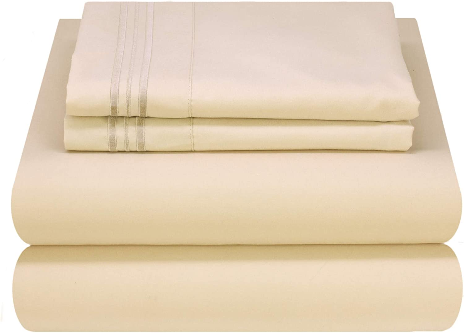 BEST Attached 6PC WATERBED SHEET SET Double Brushed+ Free Poles /& Embroidery