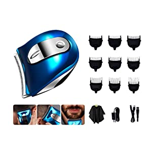 Self haircut kit for men,Hair Clippers for Men,Shortcut Self-Haircut Kit with 9 Combs, Cleaning Brush,Storage Pouch, haircut cape,Haircut at home Full set of haircut tools