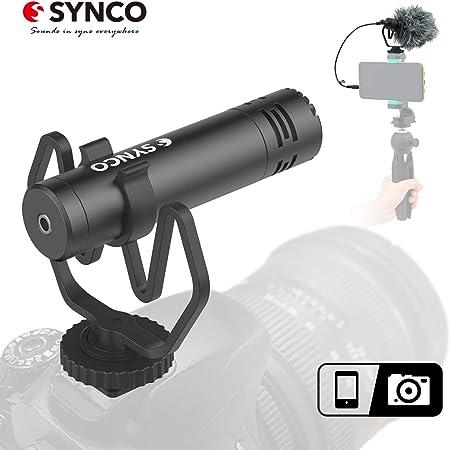 SYNCO M1 Micrófono-Cámara-Reflex-DSLR-Externo, Shotgun Micrófono Direccional para Camara y Móvil, Microfono DSLR Condensador Supercardioide Compatible para Cámara Canon, Sony, Nikon, Panasonic: Amazon.es: Electrónica