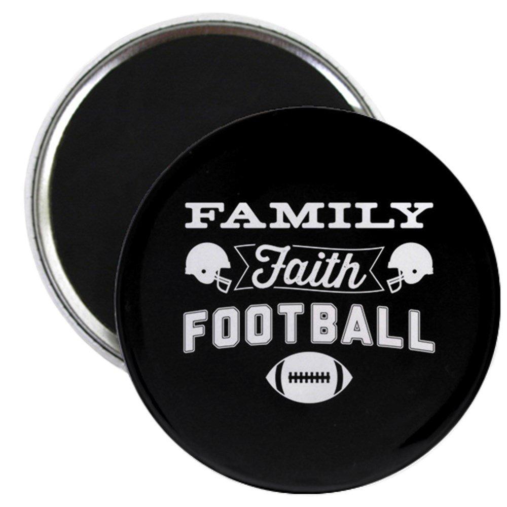 CafePress - Family Faith Football - 2.25インチ ラウンドマグネット 冷蔵庫マグネット ボタンマグネットスタイル   B075X4DDXP