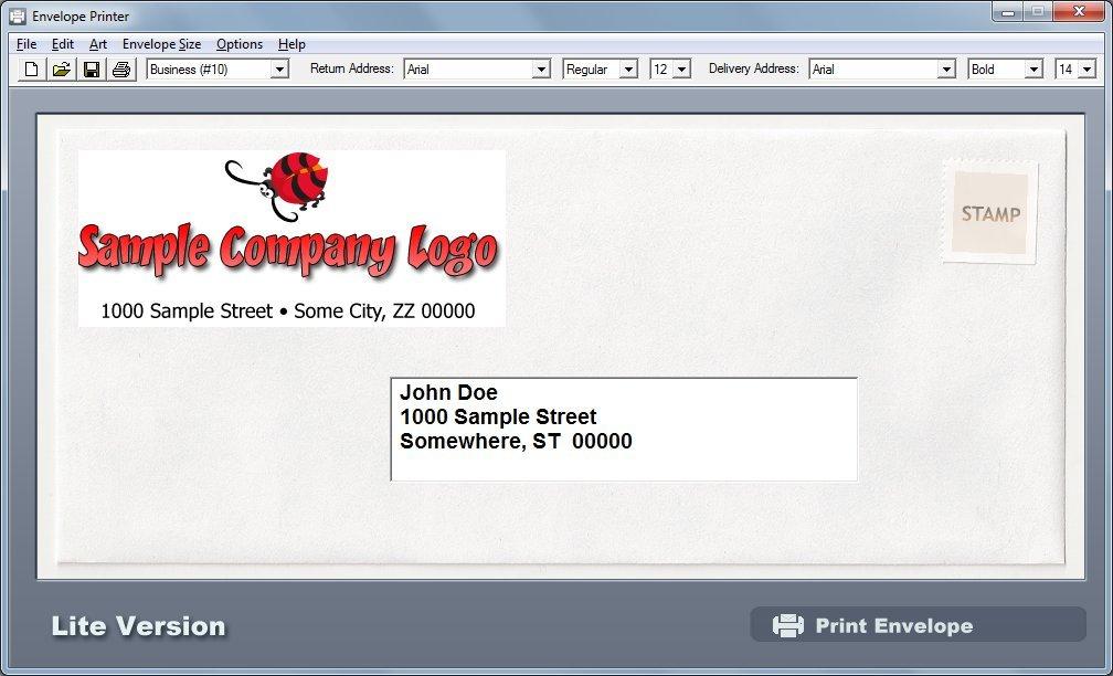 Envelope, letterhead, envelopes, free download e-print.