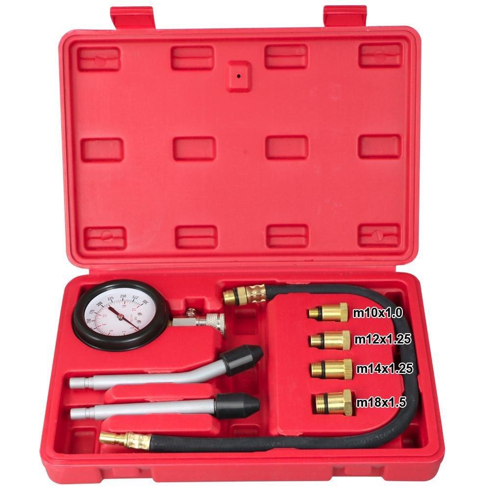 Yahee Coffret de Compressiomè tre Multifonction pour Moteur Cylindre 0-300PSI(0-21bar) Jauge de pression Kit testeur