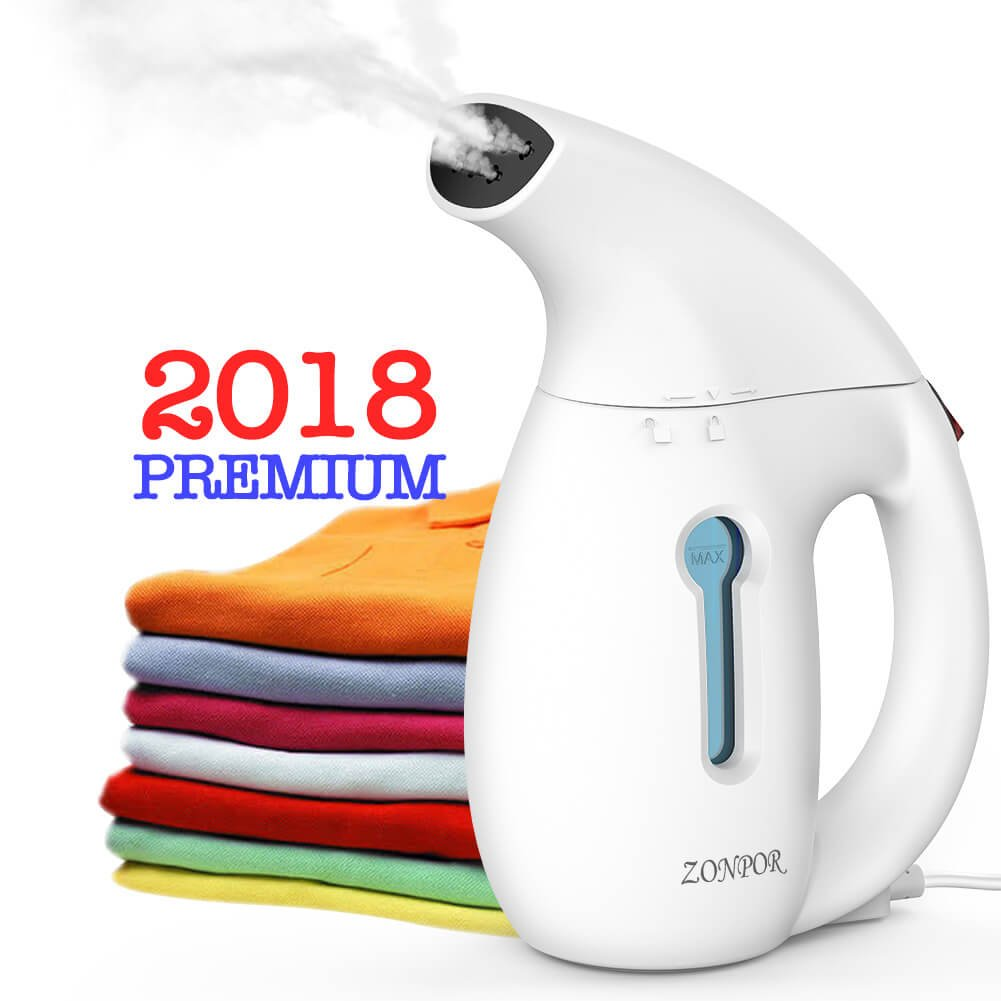 Steamer for Clothes, Zonpor Portable Clothes Steamer, Powerful Handheld Clothing Steamer De-Wrinkles, Clean, Sterilize and Steam Iron Garment Fabric Steamer for Travel/Home, Fast Heat Up, 100% Safe