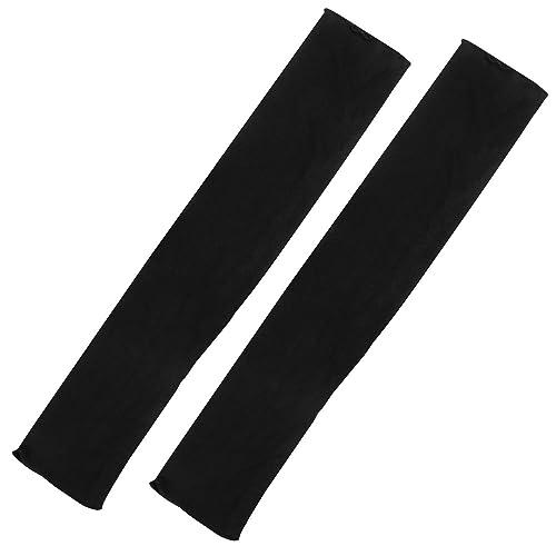 TRIXES Guantes para mujer de manga larga de color negro sin dedos, estilo retro ópera