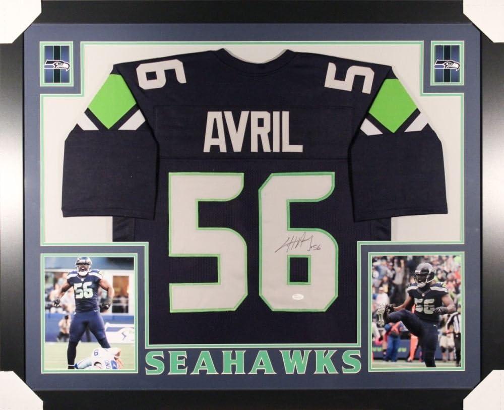 Cliff Avril Signed Seahawks 35x43 Custom Frmd Jersey/JSA Pro Bowl ...