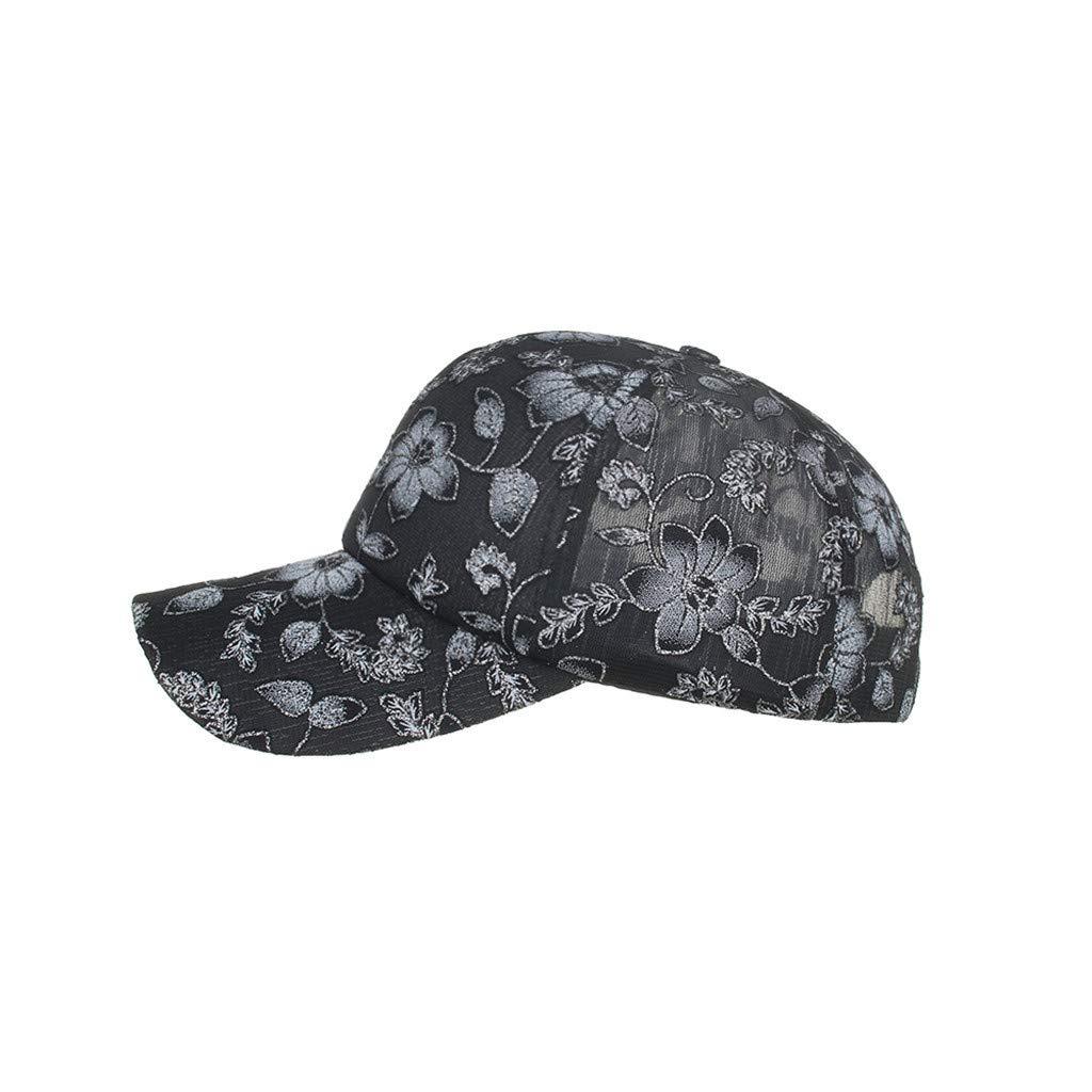 Ansenesna Casual Wild Unisex Classic Cotton Lace Baseball Cap Sun Hat Adjustable Plain Caps