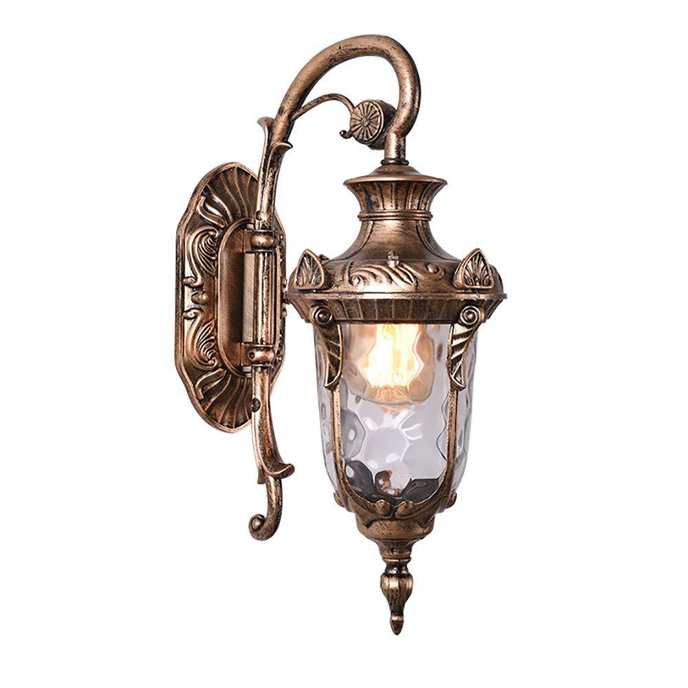 MOMAMO Wandlampe Landhausstil Wasserdicht Schlafzimmer Wohnzimmer Industrielle Retro-Wandleuchte Innen Flur Einfache Europäische Light ensockel mit modernem Schwarz Bronze