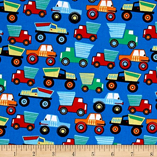 Paintbox Fabric (Michael Miller Little Movers Little Movers Paintbox Fabric by The Yard)