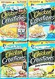 #5: Buffalo Style, Chicken Salad, Ginger Soy, Zesty Lemon Pepper - Starkist Chicken Creations - Variety Bundle Pack of 4, 2.6 Oz Each