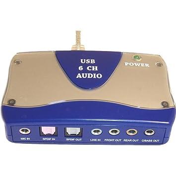 Amazon.com: PPA Int l 1455 adaptador de sonido externa de 6 ...