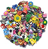 100pcs Random Different Shoe Charms for Croc bands shoes & Bracelet Wristband Kids Gifts Party Birthday