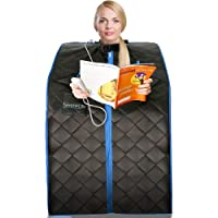 SereneLife Portable Infrared Home Spa | One Person Steam Sauna for Detox & Weight Loss