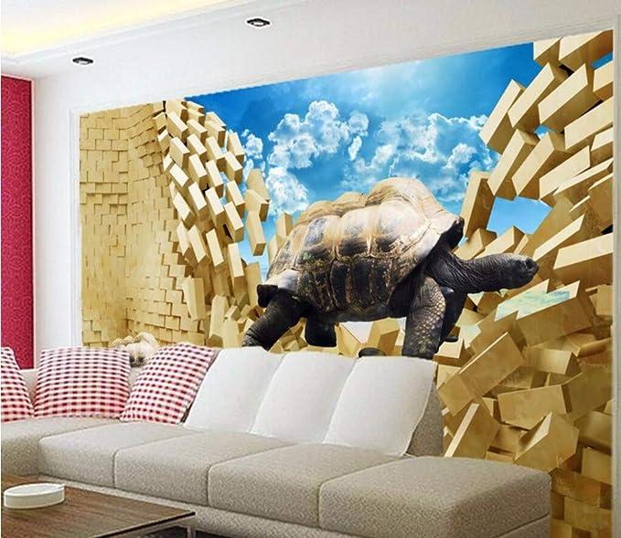 Foto Personalizada 3D Mural No Tejido Etiqueta De La Pared ...