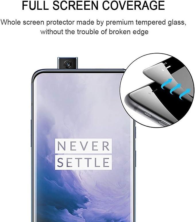 GUOSHU Premium Tempered Glass Screen Film 25 PCS 9H 5D Full Glue Full Screen Tempered Glass Film for OnePlus 6 Anti-Scratch Screen Protector