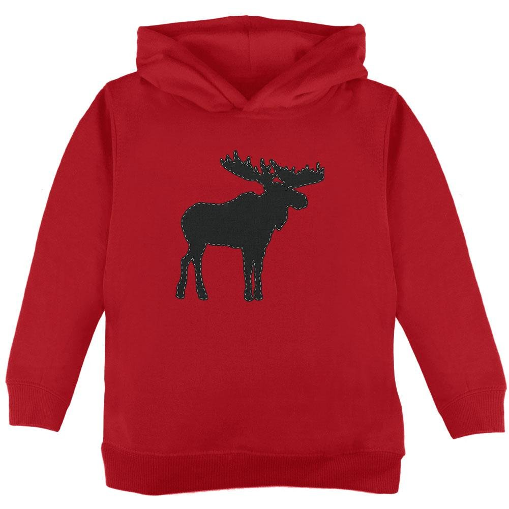 Old Glory Moose Faux Stitched Toddler Hoodie