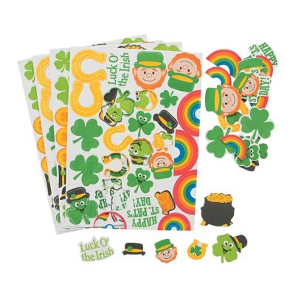 100 ~ St. Patrick's Day Foam Stickers ~ 1
