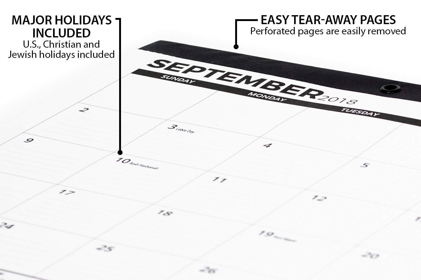 2018 2019 Desk Calendar Large Wall Calendar Monthly From October
