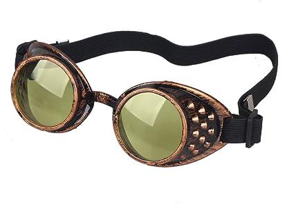 Amazon.com: careonline Fashion anteojos de Steampunk Cosplay ...