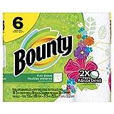 Bounty Paper Towels, Print, 6 Regular Rolls
