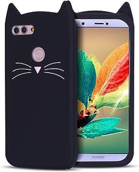 RosyHeart Funda Huawei P Smart, Carcasa Huawei Enjoy 7S, Patrón de ...