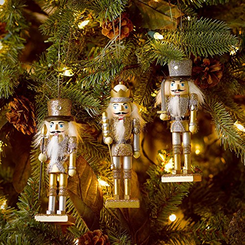 Kurt Adler Hanging Nutcracker Ornament Set of 3