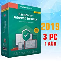 KASPERSKY INTERNET SECURITY 2019 1 AÑO 3PC LICENCIA ELECTRÓNICA