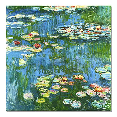- Maison Artwork DIY Frame Famous Claude Monet Water Lilies Oil Painting Replica Canvas Painting Impressionism Prints On Canvas Wall Decoration for Living Room (24x24 inch, DIY Frame)