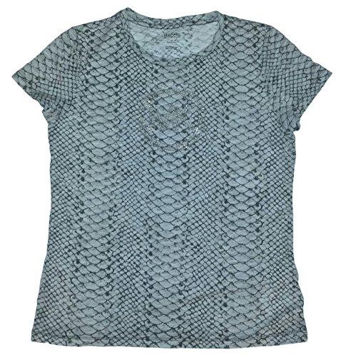 Michael Kors MEDIUM (M) Sterling Grey Python Print Womens Short Sleeve T-Shirt