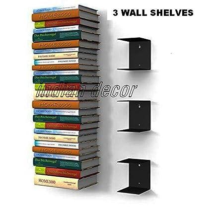 Indian Decor Invisible Shelves - (Black)