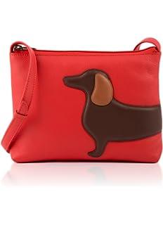 71de65b64e Ladies Yoshi Leather Digby Dachshund Dog Shoulder Bag in Black ...