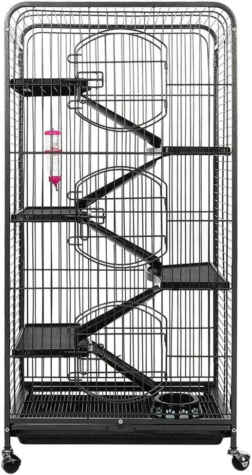 Zerone jaula de conejo de 5 niveles, conejo hurón, conejo, conejo, conejo, chinchilla cerdo, jaula de roedores para animales pequeños: Amazon.es: Productos para mascotas