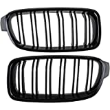 Direct Fit 2012-2018 BMW F30 3-Series 320i 328i 335i Sedan Wagon Front Kidney Grille Grill (Left & Right)