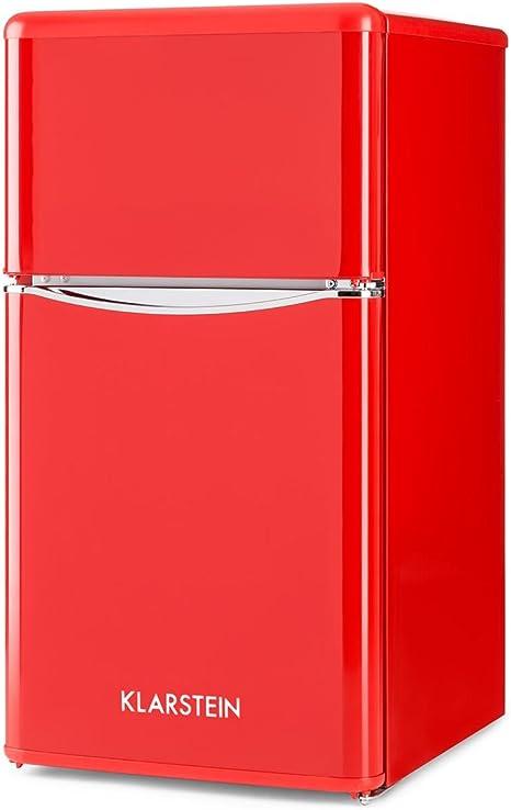 Klarstein Monroe Red 2020 Edition - Nevera con congelador ...